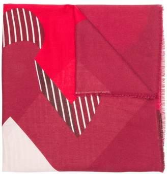 Liu Jo stripe detail scarf