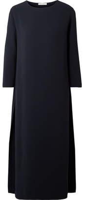 The Row Nolia Crepe Midi Dress - Navy