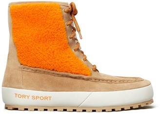 Color-Block Lace-Up Boots