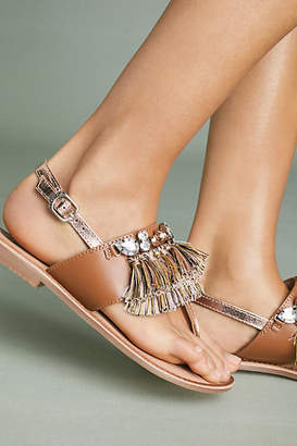 GIOSEPPO Frayed Sandals