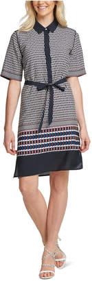 DKNY Elbow-Sleeve Printed Shirtdress