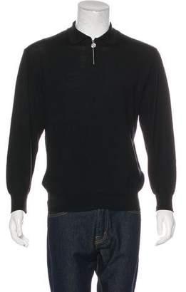 Gianni Versace Half-Zip Polo Sweater