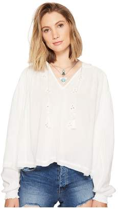 Free People Tropical Summer Hooded Top Women's Clothing
