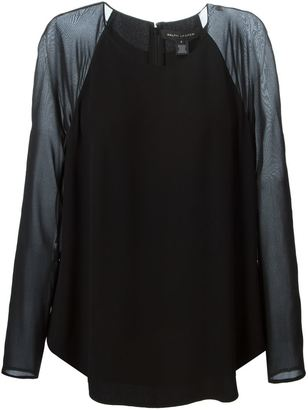 Ralph Lauren Collection contrasting raglan sleeves blouse $697.34 thestylecure.com