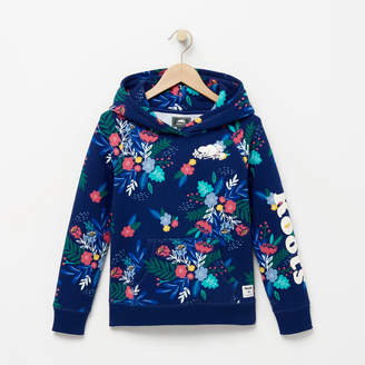 Roots Girls Remix Floral Hoody