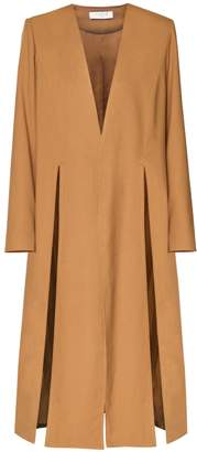 PAISIE - Collarless Coat With Split Front Panels
