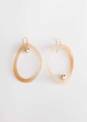 And other stories Mismatch Oval Hanging Earrings