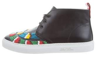 Del Toro African Beaded Leather Sneakers w/ Tags