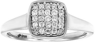 MODERN BRIDE IN Love 1/4 CT. T.W. Diamond 10K White Gold Multi-Top Ring