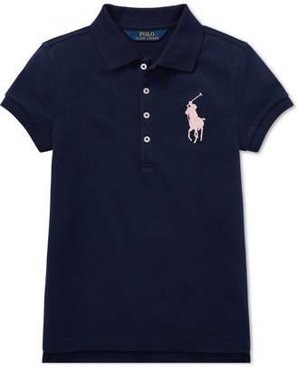Polo Ralph Lauren Big Girls Big Pony Stretch Mesh Polo Shirt