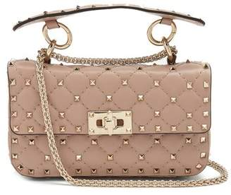 Valentino - Rockstud Spike Small Quilted Leather Shoulder Bag - Womens - Nude