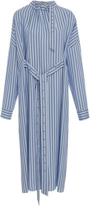 Tibi Buckle Dolman Stripe Dress