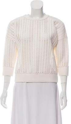 Milly Cut Out Crew Neck Sweater