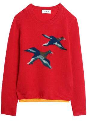 Coach Intarsia-Knit Cashmere-Blend Sweater