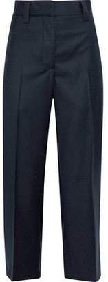 Acne Studios Trea Cropped Polka-Dot Wool-Twill Straight-Leg Pants