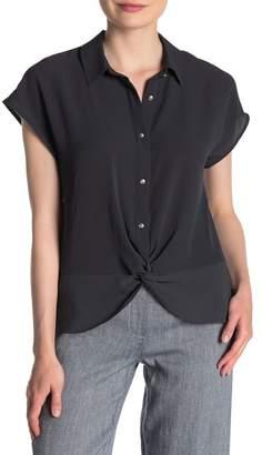 Jones New York Twist Hem Shirt