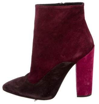 Giambattista Valli Suede Colorblock Booties