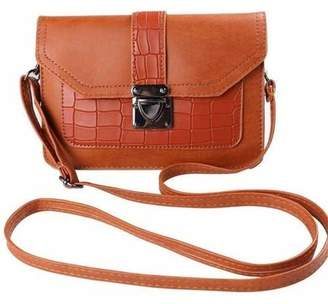 SUMACLIFE Ridged Buckle Crossbody Purse Bag fits Cell Phones up to 6.5 inches by 4.3 inches