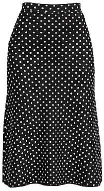 Balenciaga Women's Polka Dot A-Line Skirt