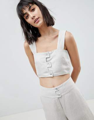 Asos Linen Two-piece Crop Top