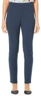 Carolina Herrera Side-Zip Straight-Leg Stretch-Cotton Cropped Pants