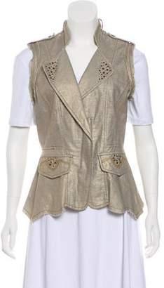 Alberto Makali Embellished Casual Vest