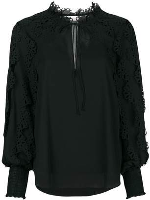 See by Chloe laser cut trim blouse