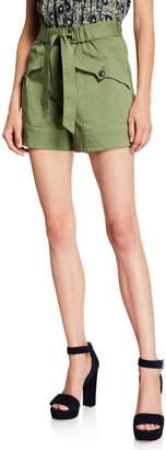 Sea Tula Tie-Waist Cargo Shorts