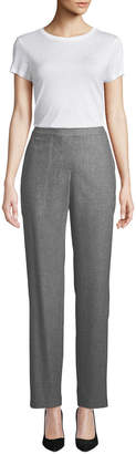 Fulton High-Waist Straight-Leg Italian Flannel Pants