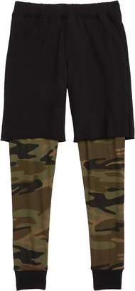 Joah Love Camo Print Layered Pants