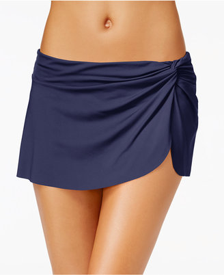 Anne Cole Solid Sarong Swim Skirt Women's Swimsuit $54 thestylecure.com