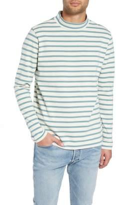 YMC Striped Mock Neck T-Shirt