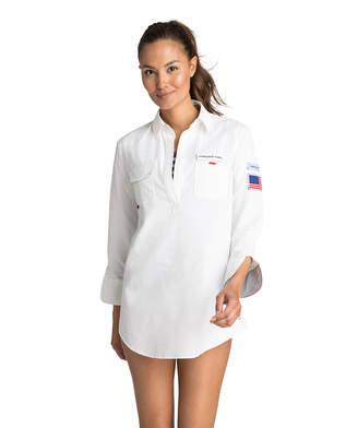 Vineyard Vines USA Harbor Shirt Cover-Up