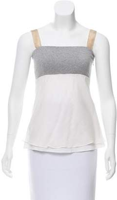 Brunello Cucinelli Sleeveless Colorblock Top