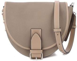 J.W.Anderson Bike Lace-up Smooth And Pebbled-leather Shoulder Bag