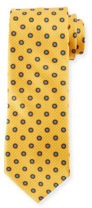 Canali Multi-Circles Silk Tie, Yellow