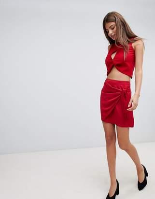 Fashion Union Wrap Mini Skirt With Tie Detail