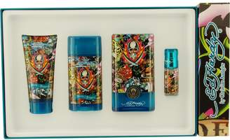 Christian Audigier Ed Hardy Hearts and Daggers for Men-4 Pc Gift Set 3.4-Ounce EDT Spray, 3-Ounce Hair and Body Wash, 2.75-Ounce Alcohol Free Deodorant, 7.5ml Mini EDT Spray