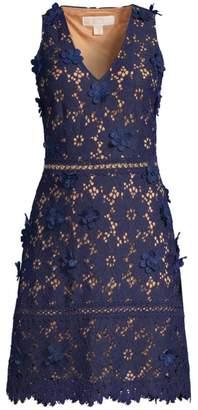 MICHAEL Michael Kors 3D Carnation Lace Dress