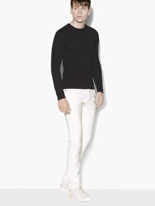 John Varvatos Long Sleeve Crew With Shoulder Detail
