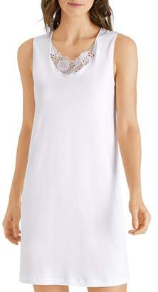 Hanro Lace-Inset Tank Nightgown