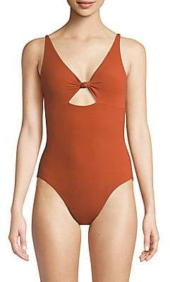 Tory Burch Women's Palma One-Piece Cut-Out Swimsuit