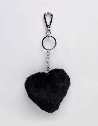 Monki Fluffy Heart Key Chain