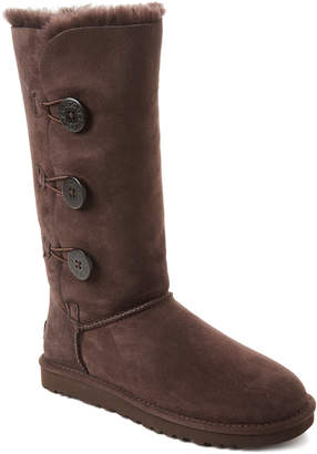 UGG Chocolate Bailey Button Triplet Tall Boots
