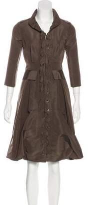 Oscar de la Renta Silk Midi Dress