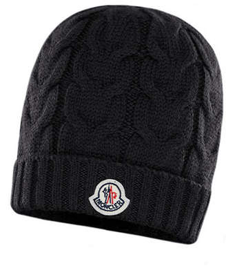 Moncler Kid's Cable Knit Virgin Wool Hat