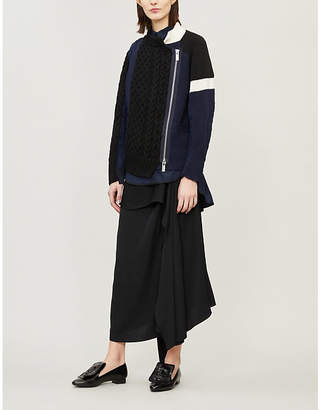 Sacai Knit contrasting jacket
