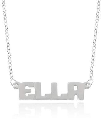 Monogram Online Small Block Letter Name Necklace, Sterling Silver