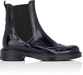 Barneys New York Women's Leather Wingtip Chelsea Boots