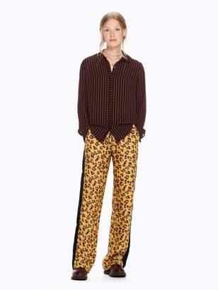 Scotch & Soda Wide Leg Leopard Print Trousers